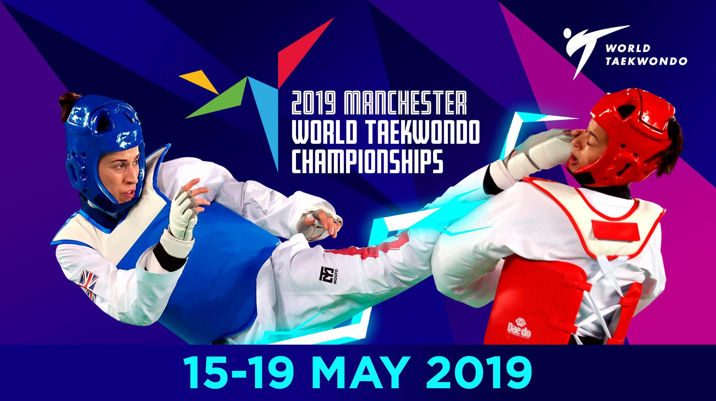 Kết quả hình ảnh cho Manchester 2019 World Taekwondo Championship – Day 1