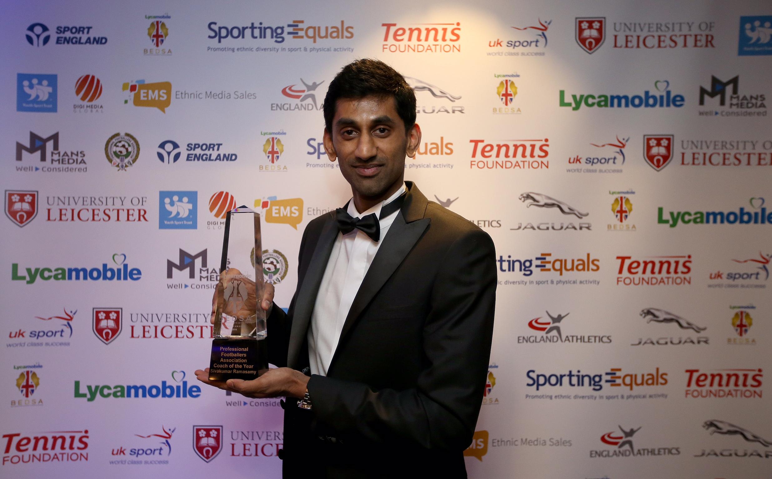 PFA Coach of the Year winner Siva Ramasamy