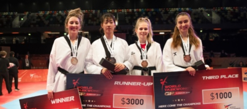 Revved up and firing on all cylinders. Jones and Walkden ensure a nap hand of World Taekwondo Grand Prix medals for GB squad
