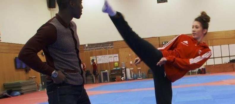 BBC Sport Wales: Jade Jones Teaches Taekwondo To Christian Malcolm