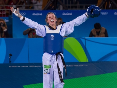 Watch Jade secure her second historic Olympic win!